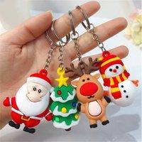 Wholesale Christmas Keychain Merry Christmas Decoration Santa Claus Elk Snowman Keychain New Year Decoration Children Gift IIA632