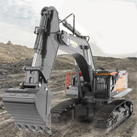 Wholesale 1 Ghz toy CH Big Trucks Alloy and plastic Excavator Remote Control Vehicle RTR RC Engineering Car Y200317