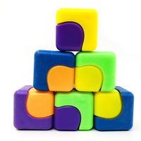 Wholesale Square Magic Cube Hand Gyro PVC Spinner Fidget Toys Stress Relief EDC Anti Stress Adult Kids Toy Hot Sale Capsule Toys