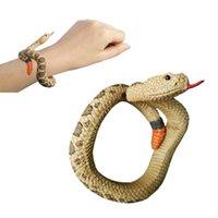 Wholesale paint ideas resale online - Simulation Resin Animal Snake Bracelet Handmade Painted Wristband Gift Ideas