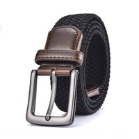 Wholesale braided copper wire for sale – best New and women s rubber wire elastic braided fashionable New Belt men Women beltelastic young men s belt PQCen