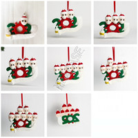 Wholesale xmas soft toys for sale - Group buy 1 Quarantine Family Christmas Ornament DIY Polymer Clay wih Face Mask Xmas Tree PARTY Hanging Soft Kids Ceramic Toys GWF1791