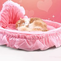 Wholesale princess girl bedding for sale - Group buy Girl Dog Bed Round Pet Lounger Cushion For Small Medium Dogs Cats Cute Princess Mat Warm Pet Bed KKA8076