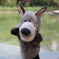 Wholesale Kids Hand Puppet Toy Giraffe Wolf with Working Mouth for Imaginative Play