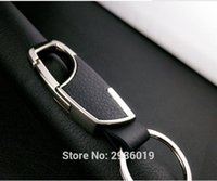 Wholesale usb key rings resale online - Car styling Men Leather Key Chain Car Key Ring for w204 w211 accessories gla usb w213 watch Accessories
