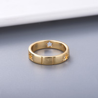 Simple Style Couple Ring Personality for Lover Ring Star Fashion Ring High Quality Silver Plated Jewelry Supply