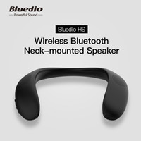 Wholesale portable sd card player resale online - Bluedio HS neck mounted bluetooth speaker portable wireless speakers bluetooth with bass FM radio support SD card slot