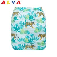 Wholesale New Arrival Alvababy Cloth Diaper Positioning Digital Modern Cloth Nappy with Insert