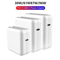 Wholesale macbook air charger resale online - USB C to type C Power Adapter W W W W With m A Cable QC3 USB PD3 Wall Charger For MacBook Pro Air iphone pro X iPad