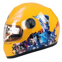 Wholesale kids safety helmets resale online - Fashion Kids motor helmet safety full face motorcycle helmet for children Electromobile casque casco moto capacete year