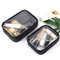 Wholesale clear pvc makeup case resale online - Transparent Make Up Bag PVC Cosmetic Bag Makeup Case Capacity Clear Travel Storage Pouch Toiletry Bath Wash Functional Organizer