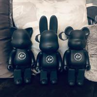 Wholesale 28cm Bearbrick Evade glue Black bear figures Toy For Collectors Be rbrick Art Work model decorations kids gif