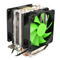 Wholesale copper cpu for sale - Group buy Dual Copper Pipes Dual Fans Hydraulic CPU Cooler Heatpipe Fans Heatsink for For intel Socket LGA2011 LGA1366 AMD AM3 AMD
