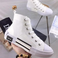 Wholesale b25 B23 High Top Sneakers in Oblique Mens Designer Sneaker Womens Trainer Shoes Top Quality Size mn18964