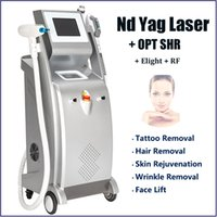 Newest !! 5 IN 1 Nd yag Laser Tattoo Removal Equipment Lazer Hairs Eyebrow Pigment Treatment Elight OPT SHR Skin Rejuvenation Machine