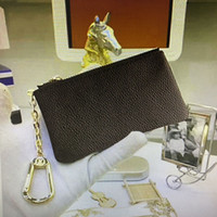 Wholesale man purse wallet for sale for sale - Group buy M62650 Hot sale Top Quality Key case Men Short wallet Classic Fashion Real Leather for Women coin purse Keychain with Box Dust Bag