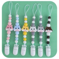 Wholesale hamsters babies resale online - Personalised Baby Plastic Soothing Silicone Baby Teether Hamster Nipple Teething Dummy Clips Holder Chain Bpa Free