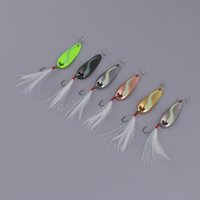 Wholesale sequin fishing lures for sale - Group buy 6 Pieces Metal Sequins Fishing Lures Artificial Hard Bait with Barbed Hook