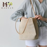 Wholesale bohemian bucket bag for sale - Group buy Women s Shoulder Bag Straw Bag Summer Small Fresh Bohemian Fashion Wild Mobile Handbag Trend Single Shoulder Bucket