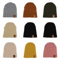 Wholesale women s fall hats resale online - Real Knitted Ball Beanies Winter For Women Girl S Wool Hat Cotton Thick Female Cap