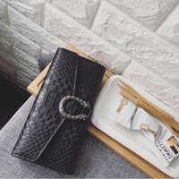 ingrosso borse a mano progettista lungo-Gucci double g L25 Wallet Long Ladies Purse Wallets Fashion Hand Clutch Bags for Women Alligator Pattern PU Leather Designer Wallet Card Holder Bags QA