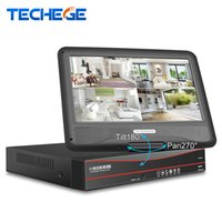 Wholesale network screen for sale - Group buy Techege All in One Security Network Video Recorder CH CCTV PoE V NVR P With LCD Screen Motion Detect Onvif RTSP