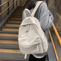Wholesale cotton leisure backpack for sale - Group buy Simple Classic Designe Cotton Women Backpack School Student Book Bag Leisure Travel Young Backbags for school girls boys