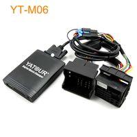 Wholesale car usb mp3 changer resale online - Yatour Car Digital CD Music Changer USB MP3 AUX adapter For VDO Blaupunkt quadlock pin fakra yt m06 MP3 Adapter