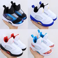 Wholesale toddler training shoes for sale - Group buy 2020 Kids Jumpman Basketball for Sports Training Sneakers Laney Ps Blackcat Toddler Children Shoes Size