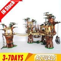 Wholesale stars wars toys resale online - 05047 US In Stock Star Toys Wars Ewok Village Building Blocks Bricks Toys Gifts
