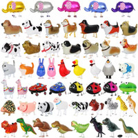 Wholesale dinosaur walk for sale - Group buy Walking Pet Balloons Animal Helium Aluminum Foil Balloons Cartoon Dinosaur Balloon Kids Toys Birthday Wedding Party Supplies HHC1289