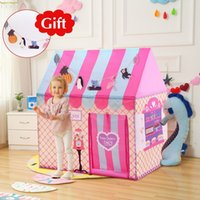 YARD Kids Toys Tents Kids Play Tent Boy Girl Princess Castle Indoor Outdoor Kids House Play Ball Pit Pool Playhouse LJ200923