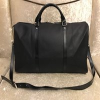 Wholesale tote large resale online - 2019 men duffle bag women travel bags hand luggage luxury travel bag men pu leather handbags large cross body bag totes L55cm