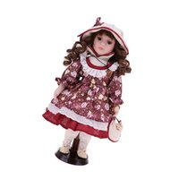 Wholesale country girl gifts for sale - Group buy 30cm Porcelain Victorian Doll in Country Style Dress Suit Standing Girl Doll Valentine Gift Home Office Desk Table Ornaments