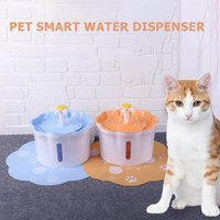 Wholesale cats water fountains resale online - 2 L pet automatic water dispenser Dog Cat Pet Mute Drinker Feeder Bowl Pet Drinking Fountain dispenser blue Y200917