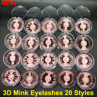 Wholesale real mink eye lashes resale online - NEW D Mink Eyelashes mm D Mink Eyelash Makeup False Eyelashes Big Dramatic Volumn Thick Real Mink Lashes Handmade Natural Eye Lashes