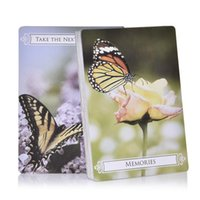 Wholesale 44pcs Tarot Cards Butterfly Oracle Cards For Life Changes Oracle Card Table Deck Games Party Playing Card Board Game Guidance yxljxW