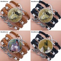 Wholesale ballerina jewelry for sale - Group buy EJ Glaze Dancer Ballerina Jewelry Multilayer Black Brown Leather Bracelet Bangle Jewelry Crystal Gift For Women Wedding Gift