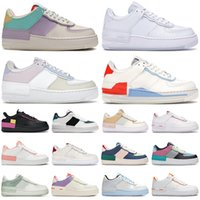 luftweg schuhe groihandel-nike air force 1 af1 shadow shoes forces airforce one Günstige Schuhe für Männer Frauen Mode Sneakers Triple White Pale Ivory Washed Herren Turnschuhe Casual Jogging Walking