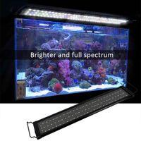 Wholesale aquatic plants for sale - Group buy US W LED Water Grass Lamp inch Black US Standard Aquarium LED Light Super Slim Fish Tank Aquatic Plant Grow Lighting