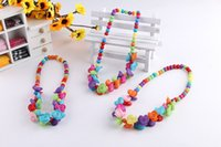 Wholesale flower children necklace for sale - Group buy New Hot Children kid Bauble jewelry set handmade necklace Bead Bracelet Bead rose flower necklace
