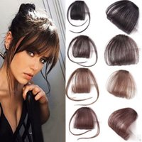 Wholesale clip on bangs for sale - Group buy 1pcs High Quality Hair Clips Fringe Pieces False Synthetic Hair On The Clips Front Neat Bang Good Hair Styling Accessories