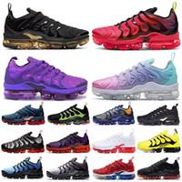 Wholesale Top Quality TN Plus Pastel Metallic Gold men running shoes Voltage purple Hyper Violet VOLT Lemon Lime Women trainers sport sneakers US