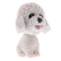 Wholesale car head shaking toy resale online - Car Auto Interior Doll Decoration Shaking Head Nodding Dog Puppy Bobblehead Toys