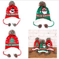 Wholesale fleece warm hats kids for sale - Group buy Baby Girls Boy Knit Cap Winter Warm Fleece Lined Beanies Letters Embroidery Beanies Kids Childs Christmas Ski Snow Hats Ear Muff Hats D91005