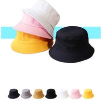 Wholesale newborn baby boy sun hats resale online - 9Colors Women UV Protection Sun Hats Breathable Baby Kids Boy Girl Unisex Bucket Hats Summer Newborn Sunbonnet Sun Hat Caps