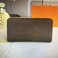 Wholesale purse for coins resale online - M41894 Hot sale Top Quality Real Leather Wallet For Women Zipper Long Card Holders Coin Purses Woman Shows Exotic Clutch Wallets With box