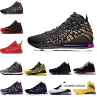 Wholesale 17 basketball shoes resale online - Basketball Hotsale Men Shoes s Xvii Black White Future Red Carpet Purple Yellow Currency k Mens Trainers Sport Sneaker