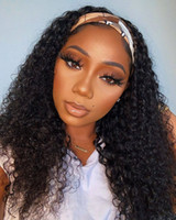 Wholesale kids wigs for sale - Group buy Ishow Human Hair wig With Headband Body Wave Straight Water Headband Wig for African American Kids Wig Machine Made None Lace Wigs