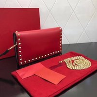 Wholesale bags platinum plated for sale - Group buy l2020 hot style bag cowhide with k vacuum plating hardware high end goods with dust bag ladies solid leather messenger bag platinum riv